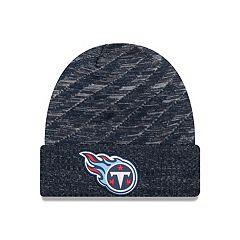Adult New Era Tennessee Titans Striped Knit Beanie