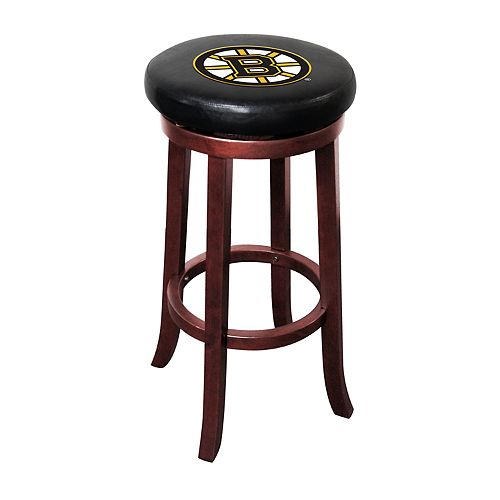 Boston Bruins Wooden Bar Stool