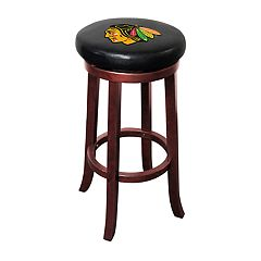 Chicago Blackhawks Wooden Bar Stool