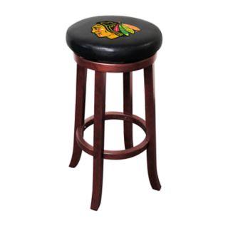 Chicago Blackhawks Wooden Bar Stool