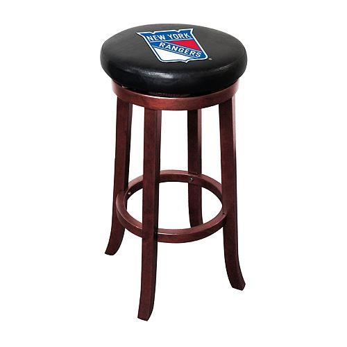 New York Rangers Wooden Bar Stool
