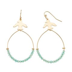 LC Lauren Conrad Bird Nickel Free Hoop Earrings