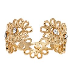 LC Lauren Conrad Filigree Flower Open Ring