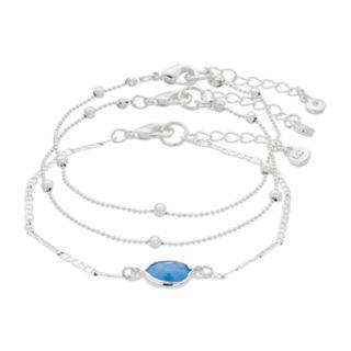 LC Lauren Conrad Blue Stone Bracelet Set