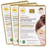 Earth Therapeutics 3-Pack Clari Gel Translucent Pure Gel Eye Zone Masks - Gold