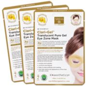 Earth Therapeutics 3-Pack Clari Gel Translucent Pure Gel Eye Zone Masks - Gold