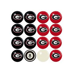 Georgia Bulldogs Home VS Away Billiard Ball Set