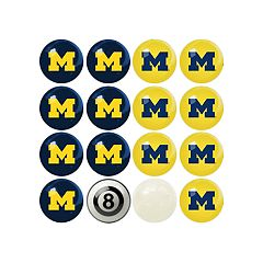 Michigan Wolverines Home VS Away Billiard Ball Set