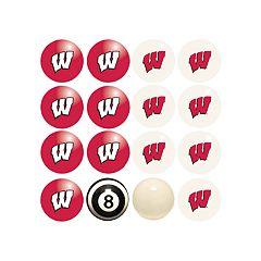 Wisconsin Badgers Home VS Away Billiard Ball Set