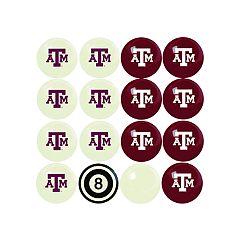 Texas A&M Aggies Home VS Away Billiard Ball Set