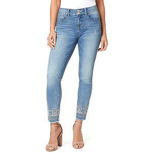 e3022584 Women's Seven7 Wide Release-Hem Skinny Jeans. Regular