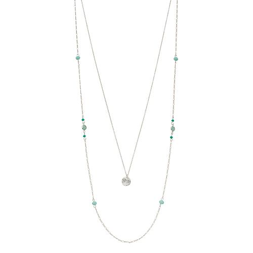LC Lauren Conrad Beaded Layered Station Necklace