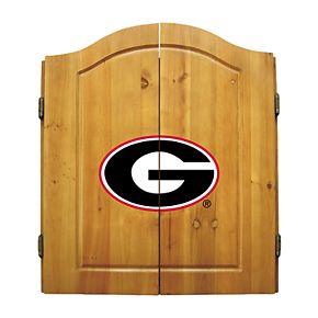 Georgia Bulldogs Dart Cabinet