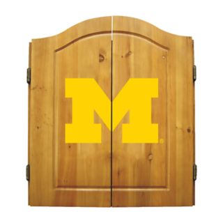 Michigan Wolverines Dart Cabinet