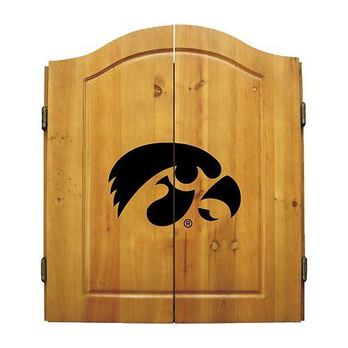 Iowa Hawkeyes Dart Cabinet