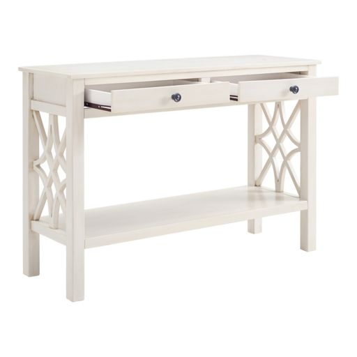 Linon Whitley Shabby Chic Console Table