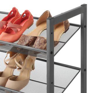 Whitmor Gunmetal 3-Tier Shoe Storage Shelf
