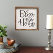 """Stratton Home Decor """"Bless This Home"""" Rustic Wall Decor"""