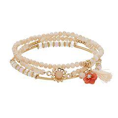 LC Lauren Conrad Multi-Strand Beaded Bracelet