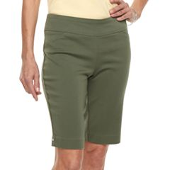 Women's Croft & Barrow® Polished Pull-On Bermuda Shorts