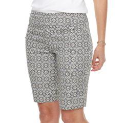 Women's Croft & Barrow® Polished Pull-On Bermuda Shorts