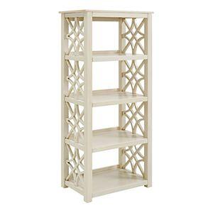 Linon Whitley Shabby Chic 4-Shelf Bookcase
