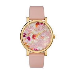 Timex Women's Style Elevated Crystal Leather Watch - TW2R66300JT