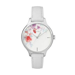 Timex Women's Style Elevated Crystal Floral Leather Watch - TW2R66800JT