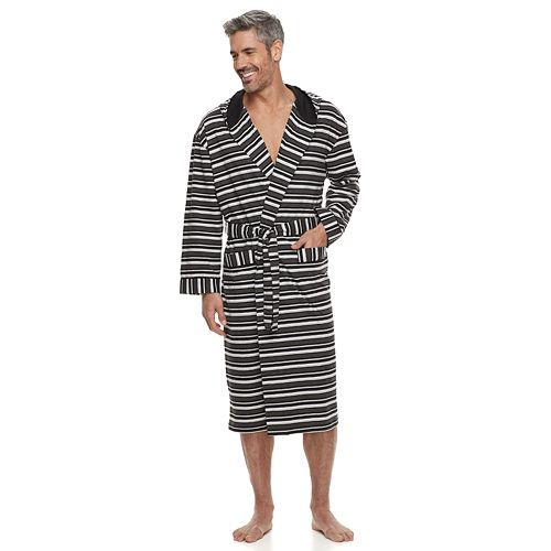 Big & Tall Residence Jersey Knit Hooded Robe