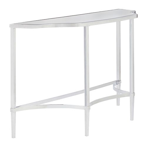 Madison Park Signature Triton Chrome Finish Console Table