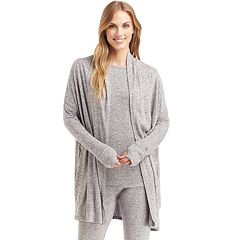 Plus Size Cuddl Duds Soft Knit Wrap Cardigan