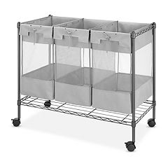 Whitmor Supreme 3-Bag Organizer Cart