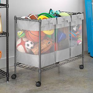 Whitmor Supreme 3-Bag Organizer Cart