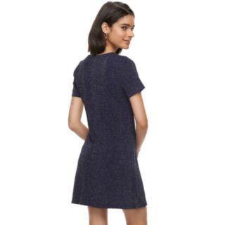 Juniors' Trixxi Glitter Knit Swing Dress