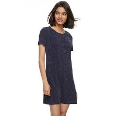 Juniors' Trixxi Glitter Knit Swing Dress
