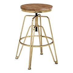 Linon Rustic Industrial Adjustable Stool
