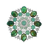 Napier Green Simulated Crystal Cluster Pin