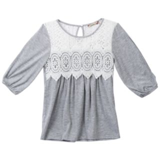 Girls 7-16 & Plus Size Speechless Lace Front Knit Top