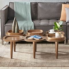 INK+IVY Oden Coffee Table & Decorative Tray 4-piece Set