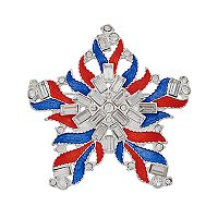 Napier Red White & Blue Star Pin