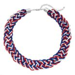 Beaded Braid Collar Necklace