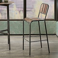 INK+IVY Renu Rustic Industrial Bar Stool