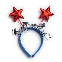 Red, White & Blue Star Bobble Headband