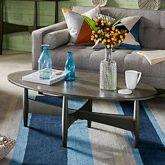 INK+IVY Ellipse Oval Coffee Table