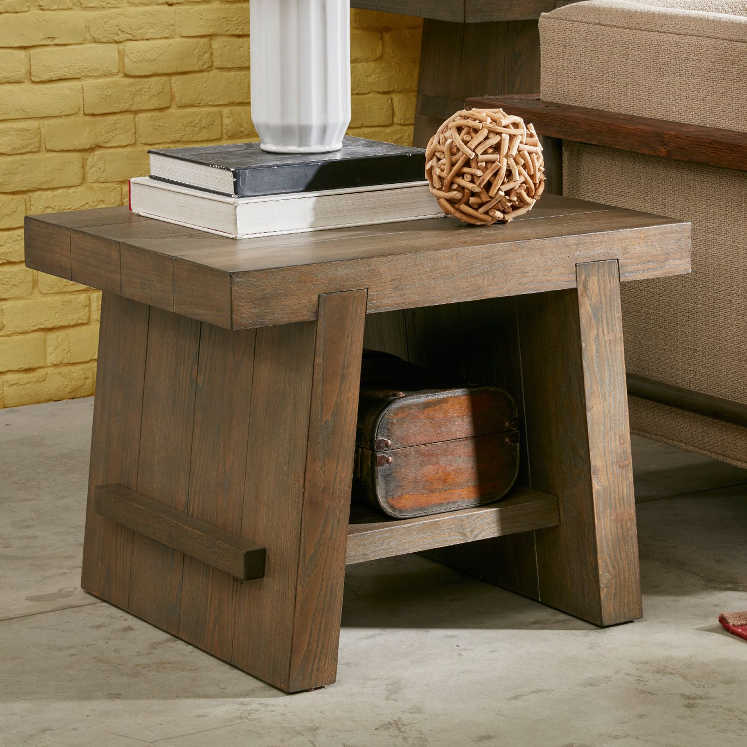 Merveilleux INK+IVY Westwood Rustic End Table