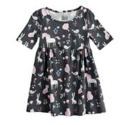 Toddler Girl Jumping Beans® Woodland Print Shirred Dress