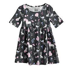 Toddler Girl Jumping Beans® Woodland Print Shirred Dress