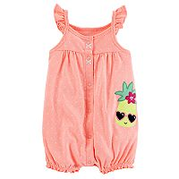 Baby Girl Carter's Polka-Dot Embroidered Romper