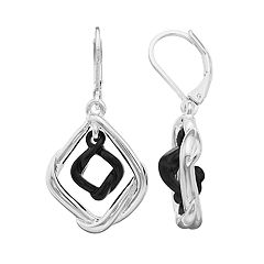 Napier Silver Orbital Drop Earring