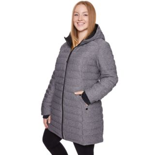 Plus Size Halitech Hooded Stretch Puffer Jacket